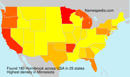 Surname Hornibrook in USA
