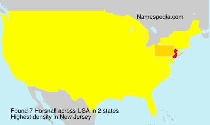 Familiennamen Horsnall - USA