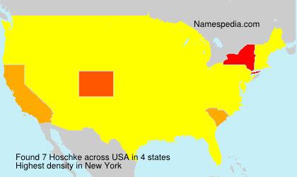 Surname Hoschke in USA