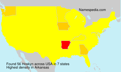 Familiennamen Hoskyn - USA
