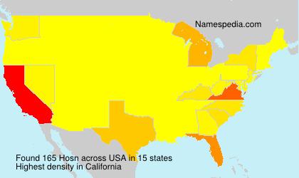 Surname Hosn in USA