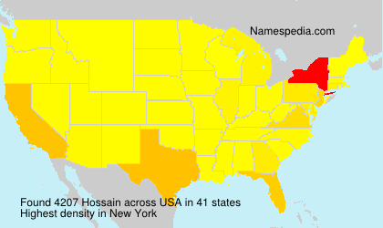 Surname Hossain in USA