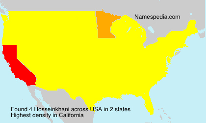 Surname Hosseinkhani in USA