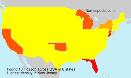 Surname Hosson in USA