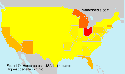 Surname Hosta in USA
