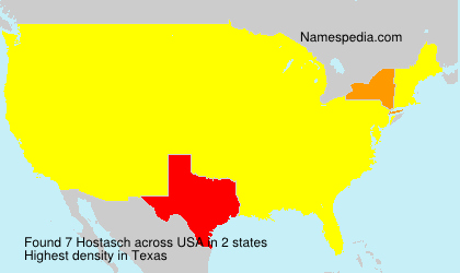 Surname Hostasch in USA