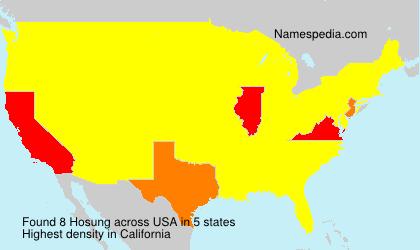 Familiennamen Hosung - USA