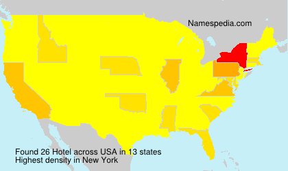 Surname Hotel in USA