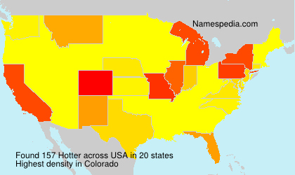 Surname Hotter in USA