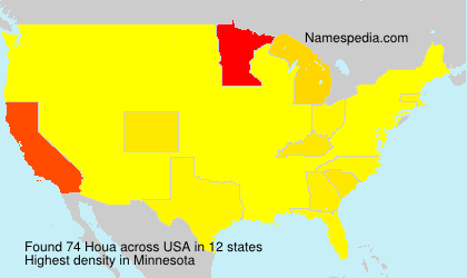 Surname Houa in USA