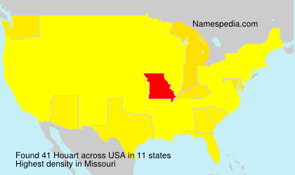 Surname Houart in USA