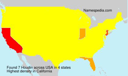 Familiennamen Houdin - USA