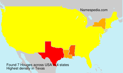 Surname Houges in USA