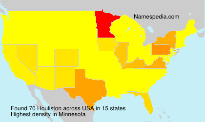 Surname Houliston in USA