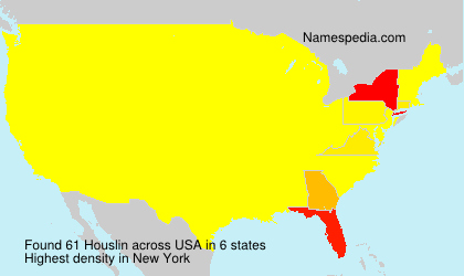 Surname Houslin in USA