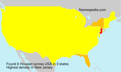 Surname Housset in USA