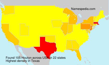 Familiennamen Houton - USA