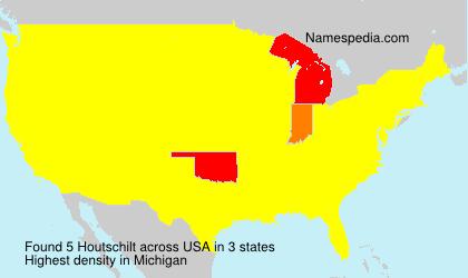 Surname Houtschilt in USA