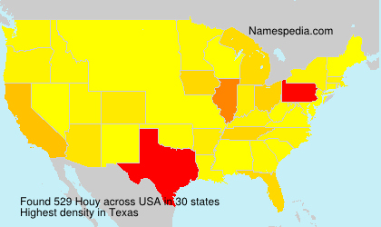 Surname Houy in USA