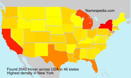 Surname Hover in USA