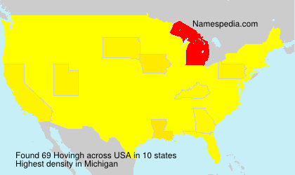 Familiennamen Hovingh - USA