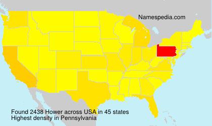Familiennamen Hower - USA