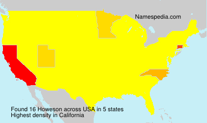 Familiennamen Howeson - USA