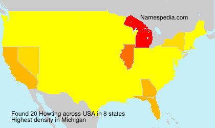 Surname Howting in USA