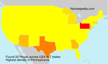 Surname Hoyak in USA