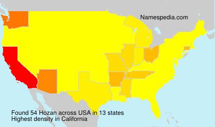Surname Hozan in USA