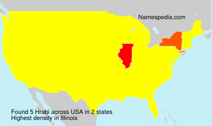 Surname Hrabi in USA