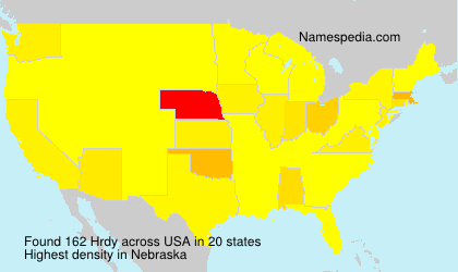 Surname Hrdy in USA