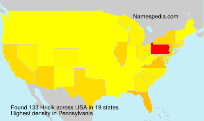 Surname Hricik in USA