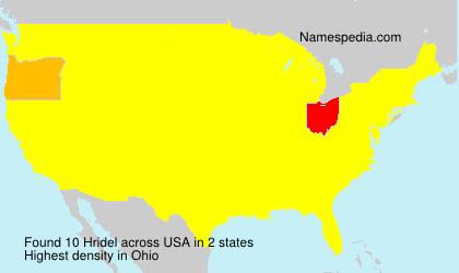 Familiennamen Hridel - USA