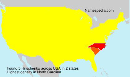 Surname Hrischenko in USA