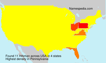 Surname Hrkman in USA