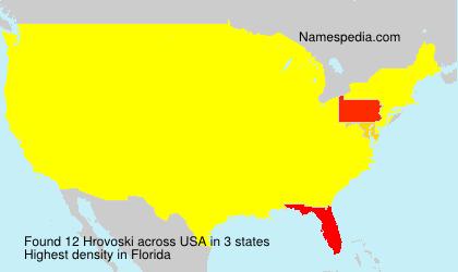 Surname Hrovoski in USA