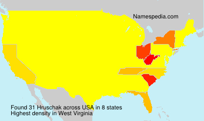 Surname Hruschak in USA