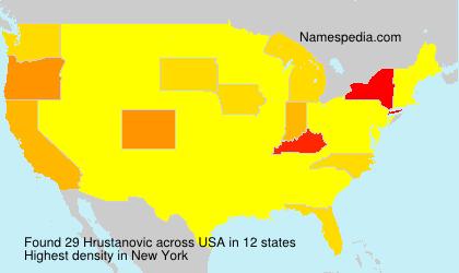 Surname Hrustanovic in USA