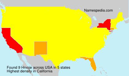 Surname Hrvoje in USA