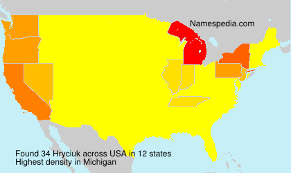 Surname Hryciuk in USA