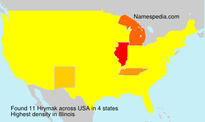 Surname Hrymak in USA