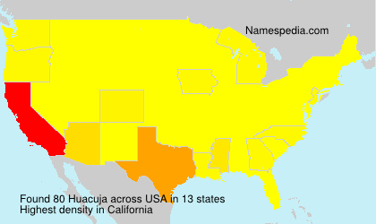 Surname Huacuja in USA