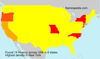 Surname Huacuz in USA