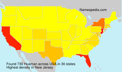 Surname Huaman in USA