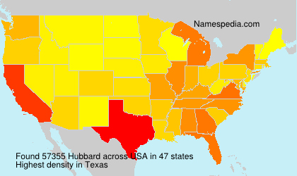 Surname Hubbard in USA