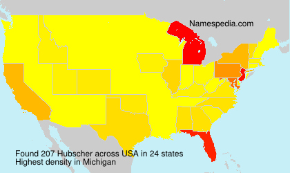 Surname Hubscher in USA