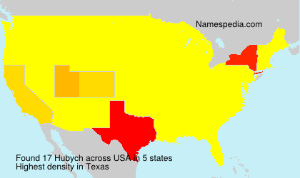 Surname Hubych in USA