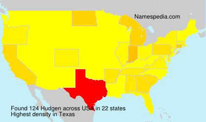 Surname Hudgen in USA
