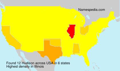 Surname Hudison in USA